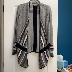 Nic & Zoe grey striped cardigan